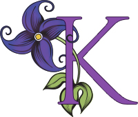 image of the letter k